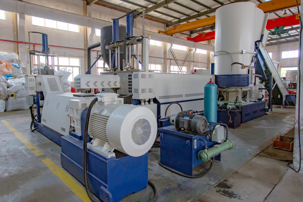 plastic pelletizing machine full setup
